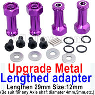 Wltoys A959B A959-B Upgrade Parts Upgrade Metal Lengthed adapter(4 set)-Lengthen 29mm-Purple
