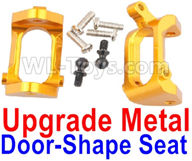 Wltoys A959B A959-B Upgrade Parts Upgrade Metal Door-Shape Seat(2pcs)-Yellow