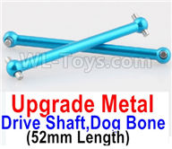 Wltoys A959B A959-B Upgrade Parts Upgrade Metal Drive Shaft,Dog Bone(2pcs)-Blue