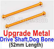 Wltoys A959B A959-B Upgrade Parts Upgrade Metal Drive Shaft,Dog Bone(2pcs)-Yellow