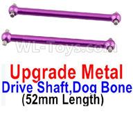 Wltoys A959B A959-B Upgrade Parts Upgrade Metal Drive Shaft,Dog Bone(2pcs)-Purple