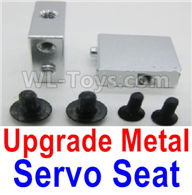 Wltoys A959 Upgrade Metal Servo Seat Parts-Silver,Wltoys A959 Parts-(Both for A959 A959B)