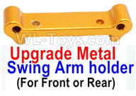 Wltoys A959B A959-B Upgrade Parts Upgrade Metal Swing Arm holder(For Front or Rear)-Yellow
