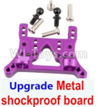 Wltoys A959B A959-B Upgrade Parts Upgrade Metal Front or Rear shockproof board-Purple
