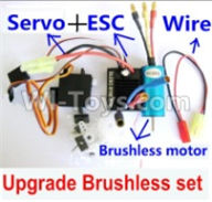 Wltoys A959B A959-B Upgrade Parts Upgrade Brushless Set(Include the Brushless motor,ESC,Servo,Conversion wire)