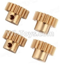 Wltoys A959B A959-B Parts Copper motor Gear(4pcs)-0.7 Modulus-27 Teeth Parts