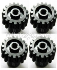 Wltoys A959B A959-B Upgrade Parts Upgrade Steel motor Gear(4pcs)-0.7 Modulus-Black-27 Teeth