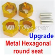 Wltoys A959B A959-B Upgrade Parts Upgrade Metal Hexagonal round seat(4pcs)(4pcs)-Yellow