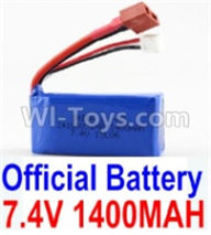 Wltoys A959B A959-B Parts Battery-Official 7.4v 1400mah Battery with T-shape Plug