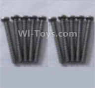 Wltoys A959B A959-B Screws Parts,Round head self-tapping screws-M2X16(10PCS)-A949-41