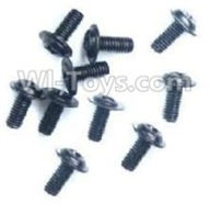 Wltoys A959B A959-B Screws Parts,Round with referral screws-M2.5X6X6(10PCS)-A949-43