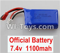Wltoys A959 Battery-Official 7.4v 1100mah battery Parts,Wltoys A959 Parts,(Both for A959 A959B)