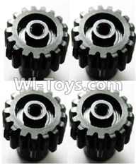 Wltoys A959 Upgrade motor Gear(4pcs)-0.7 Modulus-Black Parts,Wltoys A959 Parts,(Both for A959 A959B)