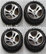 Wltoys A959 Official Wheel(2pcs Left and 2pcs Right Wheel) Parts,Wltoys A959 Parts,(Both for A959 A959B)