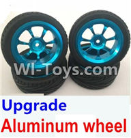Wltoys A959 Upgrade Aluminum wheel(4pcs-Include the Tire leather) Parts,Wltoys A959 Parts,(Both for A959 A959B)