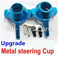 Wltoys A959 Upgrade Metal steering Cup-Blue Parts,Wltoys A959 Parts,(Both for A959 A959B)