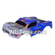 Wltoys A969-B Parts-Car canopy,Sheel cover-Blue For Wltoys A969-B Rc Car Parts,High speed 1:18 Scale 4wd,2.4G A969-B rc racing car Parts,On Road Drift Racing Truck Car Parts