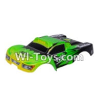Wltoys A969-B Parts-Car canopy,Sheel cover-Green For Wltoys A969-B Rc Car Parts,High speed 1:18 Scale 4wd,2.4G A969-B rc racing car Parts,On Road Drift Racing Truck Car Parts