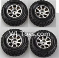 Wltoys A969-B Parts-A969-01 Wheel(2pcs Left and 2pcs Right Wheel) For Wltoys A969-B Rc Car Parts,High speed 1:18 Scale 4wd,2.4G A969-B rc racing car Parts,On Road Drift Racing Truck Car Parts