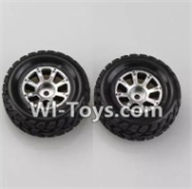 Wltoys A969-B Parts-A969-01 Right Wheel(2pcs) For Wltoys A969-B Rc Car Parts,High speed 1:18 Scale 4wd,2.4G A969-B rc racing car Parts,On Road Drift Racing Truck Car Parts