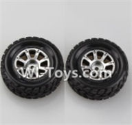 Wltoys A969-B Parts-A969-01 Left Wheel(2pcs) For Wltoys A969-B Rc Car Parts,High speed 1:18 Scale 4wd,2.4G A969-B rc racing car Parts,On Road Drift Racing Truck Car Parts