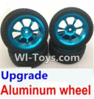 Wltoys A969-B Parts-Upgrade Aluminum wheel(4pcs-Include the Tire leather) For Wltoys A969-B Rc Car Parts,High speed 1:18 Scale 4wd,2.4G A969-B rc racing car Parts,On Road Drift Racing Truck Car Parts