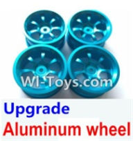 Wltoys A969-B Parts-Upgrade Aluminum wheel(4pcs-Not include the Tire leather) For Wltoys A969-B Rc Car Parts,High speed 1:18 Scale 4wd,2.4G A969-B rc racing car Parts,On Road Drift Racing Truck Car Parts