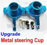 Wltoys A969-B Parts-Upgrade Metal steering Cup-Blue For Wltoys A969-B Rc Car Parts,High speed 1:18 Scale 4wd,2.4G A969-B rc racing car Parts,On Road Drift Racing Truck Car Parts