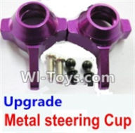 Wltoys A969-B Parts-Upgrade Metal steering Cup-Purple For Wltoys A969-B Rc Car Parts,High speed 1:18 Scale 4wd,2.4G A969-B rc racing car Parts,On Road Drift Racing Truck Car Parts