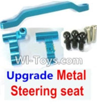 Wltoys A969-B Parts-Ugrade Metal Steering seat-Blue For Wltoys A969-B Rc Car Parts,High speed 1:18 Scale 4wd,2.4G A969-B rc racing car Parts,On Road Drift Racing Truck Car Parts