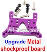 Wltoys A969-B Parts-Upgrade Metal Front or Rear shockproof board-Purple For Wltoys A969-B Rc Car Parts,High speed 1:18 Scale 4wd,2.4G A969-B rc racing car Parts,On Road Drift Racing Truck Car Parts