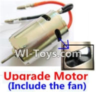 Wltoys A969-B Parts-Upgrade Brushless motor(Include the Fan,can strengthen the cooling function) For Wltoys A969-B Rc Car Parts,High speed 1:18 Scale 4wd,2.4G A969-B rc racing car Parts,On Road Drift Racing Truck Car Parts
