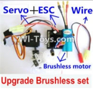 Wltoys A969-B Parts-Upgrade Brushless Set(Include the Brushless motor,ESC,Servo,Conversion wire) For Wltoys A969-B Rc Car Parts,High speed 1:18 Scale 4wd,2.4G A969-B rc racing car Parts,On Road Drift Racing Truck Car Parts