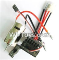 Wltoys A969-B Parts-Upgrade 390 Brush motor & Upgrade Brush Motor ESC For Wltoys A969-B Rc Car Parts,High speed 1:18 Scale 4wd,2.4G A969-B rc racing car Parts,On Road Drift Racing Truck Car Parts