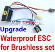 Wltoys A969-B Parts-Upgrade waterproof ESC for the Brushless set For Wltoys A969-B Rc Car Parts,High speed 1:18 Scale 4wd,2.4G A969-B rc racing car Parts,On Road Drift Racing Truck Car Parts