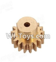 Wltoys A969-B Parts-Copper motor Gear(1pcs)-0.7 Modulus-27 Teeth For Wltoys A969-B Rc Car Parts,High speed 1:18 Scale 4wd,2.4G A969-B rc racing car Parts,On Road Drift Racing Truck Car Parts