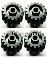 Wltoys A969-B Parts-Upgrade Steel motor Gear(4pcs)-0.7 Modulus-Black-27 Teeth For Wltoys A969-B Rc Car Parts,High speed 1:18 Scale 4wd,2.4G A969-B rc racing car Parts,On Road Drift Racing Truck Car Parts