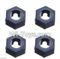 Wltoys A969-B Parts-A949-11 Hexagonal round seat(4pcs) For Wltoys A969-B Rc Car Parts,High speed 1:18 Scale 4wd,2.4G A969-B rc racing car Parts,On Road Drift Racing Truck Car Parts