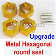 Wltoys A969-B Parts-Upgrade Metal Hexagonal round seat(4pcs)(4pcs)-Yellow For Wltoys A969-B Rc Car Parts,High speed 1:18 Scale 4wd,2.4G A969-B rc racing car Parts,On Road Drift Racing Truck Car Parts