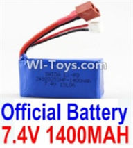 Wltoys A969-B Parts-7.4v 1400mah Battery with T-shape Plug For Wltoys A969-B Rc Car Parts,High speed 1:18 Scale 4wd,2.4G A969-B rc racing car Parts,On Road Drift Racing Truck Car Parts