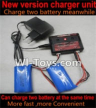 Wltoys A969-B-23-04 Upgrade version charger And Balance charger,Can charge two battery at the same time(Not include the 2x battery) For Wltoys A969-B Rc Car Parts,High speed 1:18 Scale 4wd,2.4G A969-B rc racing car Parts,On Road Drift Racing Truck Car Par