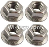 Wltoys A969-B Parts-M3 Flange nuts(4PCS) For Wltoys A969-B Rc Car Parts,High speed 1:18 Scale 4wd,2.4G A969-B rc racing car Parts,On Road Drift Racing Truck Car Parts