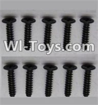 Wltoys A969-B Parts-Round head screws-M2.5X10(10PCS) For Wltoys A969-B Rc Car Parts,High speed 1:18 Scale 4wd,2.4G A969-B rc racing car Parts,On Road Drift Racing Truck Car Parts