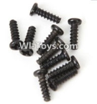 Wltoys A969-B Parts-A949-40 Round head screws-M2.5X8(10PCS) For Wltoys A969-B Rc Car Parts,High speed 1:18 Scale 4wd,2.4G A969-B rc racing car Parts,On Road Drift Racing Truck Car Parts