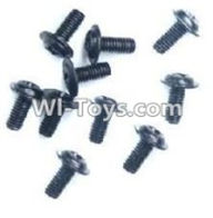 Wltoys A969-B Parts-A949-43 Round with referral screws-M2.5X6X6(10PCS) For Wltoys A969-B Rc Car Parts,High speed 1:18 Scale 4wd,2.4G A969-B rc racing car Parts,On Road Drift Racing Truck Car Parts