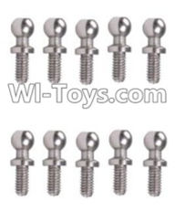 Wltoys A969-B Parts-A949-46 Ball-shape screws(10.8mmX4mm)-10pcs For Wltoys A969-B Rc Car Parts,High speed 1:18 Scale 4wd,2.4G A969-B rc racing car Parts,On Road Drift Racing Truck Car Parts