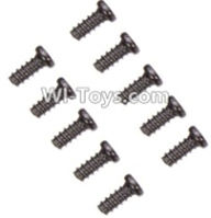 Wltoys A969-B Parts-A949-47 Countersunk head self-tapping screws-M2X6(10PCS) For Wltoys A969-B Rc Car Parts,High speed 1:18 Scale 4wd,2.4G A969-B rc racing car Parts,On Road Drift Racing Truck Car Parts