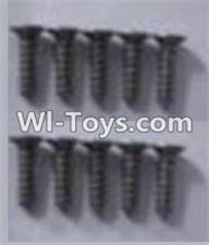 Wltoys A969-B Parts-A949-48 Countersunk head self-tapping screws-M2X9.5(10PCS) For Wltoys A969-B Rc Car Parts,High speed 1:18 Scale 4wd,2.4G A969-B rc racing car Parts,On Road Drift Racing Truck Car Parts