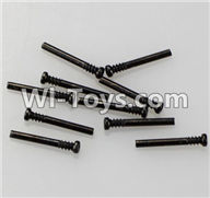 Wltoys A969 Parts-10 Round-head shape Screws-M2X17.5-(10pcs) For Wltoys A969 desert rc trunk parts,rc car and rc racing car Parts