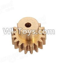 Wltoys A969 Parts-16 Copper motor Gear(1pcs)-0.7 Modulus For Wltoys A969 desert rc trunk parts,rc car and rc racing car Parts